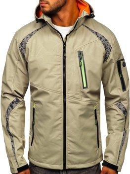 Béžová pánská softshellová bunda Bolf 2251