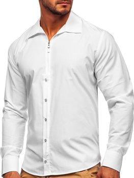 Bílá pánská košile s dlouhým rukávem Bolf 20702