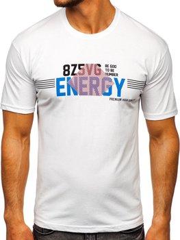 Bílé pánské tričko s potiskem Bolf 14333
