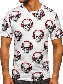 Bílé pánské tričko s potiskem Bolf 14919