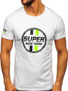Bílé pánské tričko s potiskem Bolf SS10937
