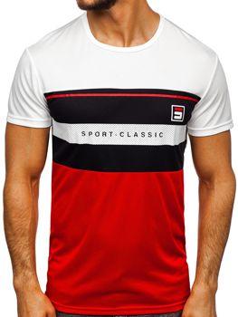 Bílé pánské tričko s potiskem Bolf SS10995