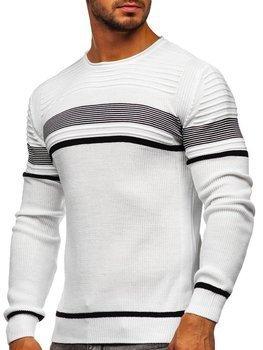 Bílý pánský svetr Bolf 1061