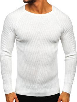 Bílý pánský svetr Bolf 285