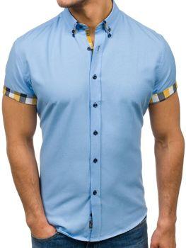 Blankytná pánská elegantní košile s krátkým rukávem Bolf 5200 e640562225