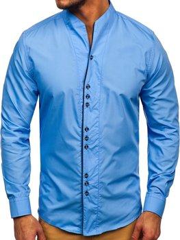 Blankytná pánská košile s dlouhým rukávem Bolf 5720