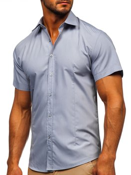 Blankytná pánská košile s krátkým rukávem Bolf 17501