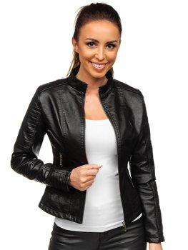 Černá dámská koženková bunda Bolf B12