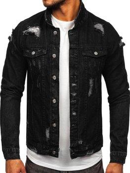 Černá pánská džínová bunda Bolf AK588