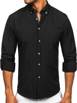 Černá pánská košile s dlouhým rukávem Bolf 20716