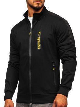 Černá pánská mikina na zip bez kapuce Bolf JX9827