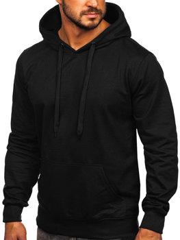 Černá pánská mikina na zip s kapucí anorak Bolf B10003