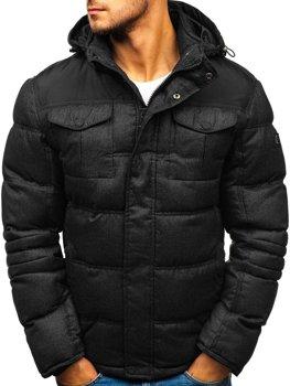 Černá pánská sportovní zimní bunda Bolf AB104