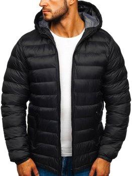 Černá pánská sportovní zimní bunda Bolf JP1101