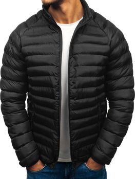 8f38ca11283 ČERNÁ · ČERVENÁ · TMAVĚ MODRÁ · Černá pánská sportovní zimní bunda Bolf  SM53-A