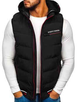 Černá pánská vesta s kapucí Bolf 5805
