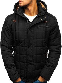 Černá pánská zimní bunda Bolf 1672