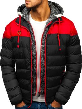 Černá pánská zimní bunda Bolf A131