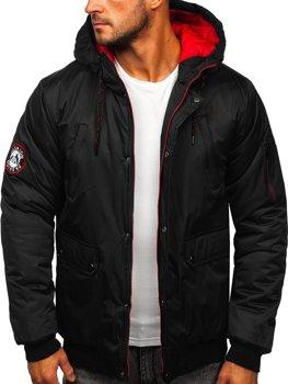 Černá pánská zimní bunda Bolf HY821