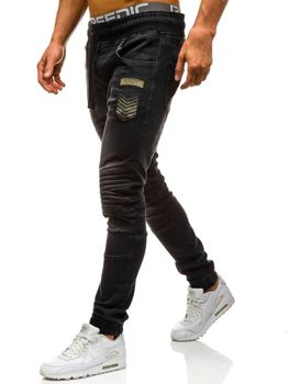 Černé pánské džínové jogger kahoty Bolf 1810