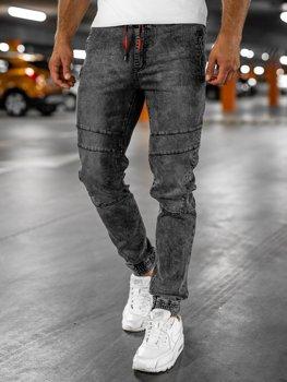 Černé pánské džínové jogger kahoty Bolf HY684