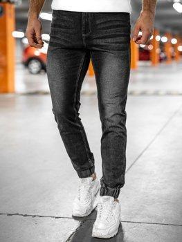 Černé pánské džínové jogger kahoty Bolf NJ55002