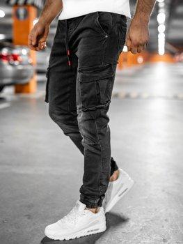 Černé pánské džínové kapsáče slim fit Bolf 31008W0