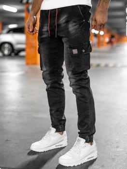 Černé pánské džínové kapsáče slim fit Bolf 61019W0