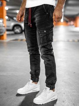 Černé pánské džínové kapsáče slim fit Bolf 61037W0