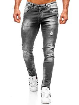 Černé pánské džíny regular fit Bolf 4006