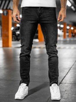 Černé pánské džíny regular fit Bolf K8863