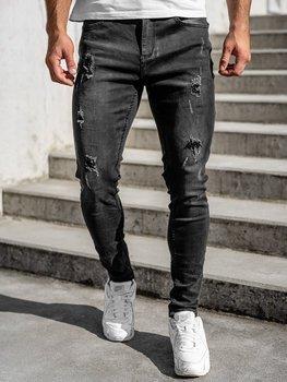 Černé pánské džíny regular fit Bolf T332