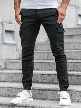Černé pánské jogger kalhoty Bolf 2039