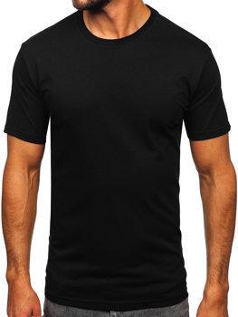 Černé pánské tričko bez potisku Bolf 14291