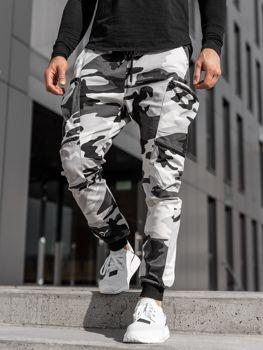 Černo-bílé pánské jogger kapsáče Bolf 0475