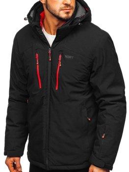 Černo-červená pánská lyžařská bunda Bolf BK193