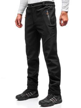 Černo-oranžové pánské trekové softshellové kalhoty Bolf 5454