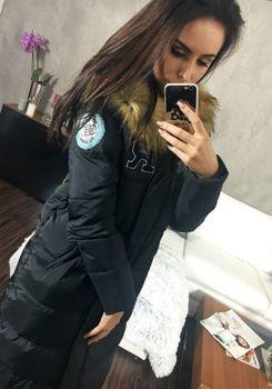 Černý dámský zimní kabát Bolf 8067