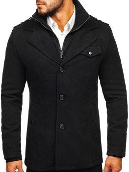 Černý pánský kabát Bolf 832