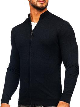 Černý pánský svetr na zip Bolf YY07
