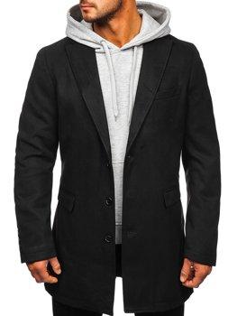 Černý pánský zimní kabát Bolf 1047C