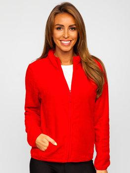Červená dámská fleecová mikina Bolf HH001