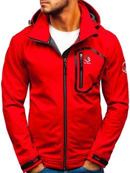 Červená pánská softshellová bunda Bolf 004A