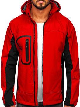 Červená pánská softshellová bunda Bolf T019