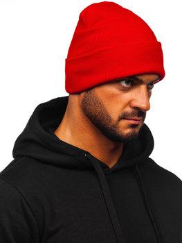 Červená pánská zimní čepice Bolf YW09004M