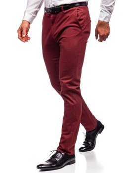 Červené pánské chino kalhoty Bolf 1120