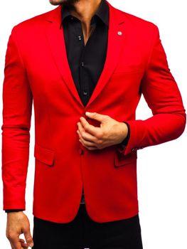 Červené pánské elegantní sako Bolf 191060