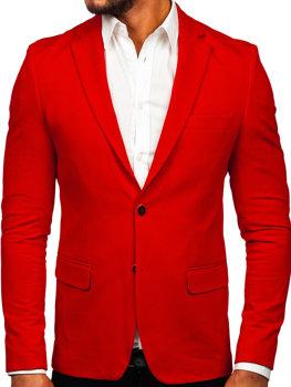 Červené pánské elegantní sako Bolf SR2003
