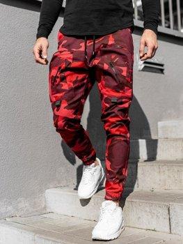 Červené pánské jogger kalhoty Bolf 0956