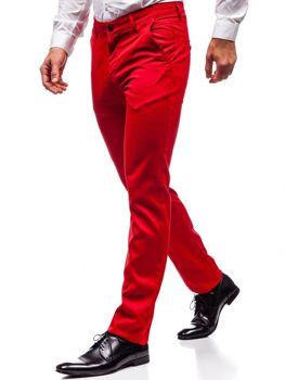 Červené pánské společenské kalhoty Bolf 3149